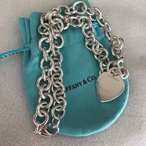Tiffany Heart Charm Necklace